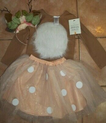 Pottery Barn Kids Halloween Woodland Deer Tutu Costume 7 8 Years #7106