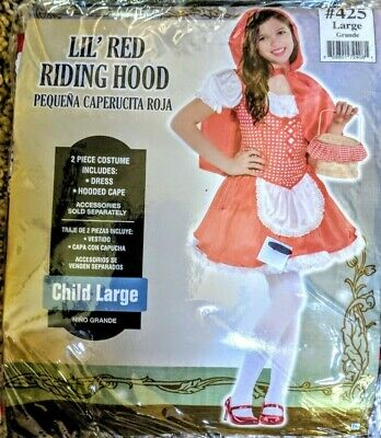Little Red Riding Hood Halloween Costume for Girls Large 12 14 teen tween - Little Red Riding Hood Costumes For Teens