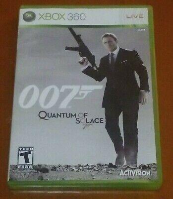 James Bond 007 Quantum of Solace Microsoft Xbox 360 2008 Complete