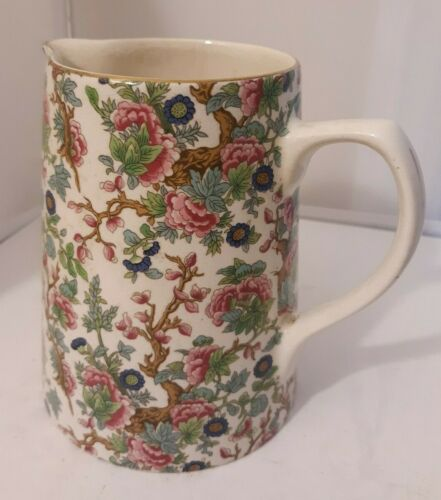 Vtg CHINTZ Lord Nelson Pottery Indian Tree Pitcher Floral China England