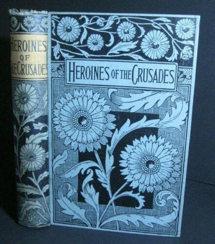 ANTIQUE BOOK 🔥 CRUSADES_HOLY LAND WAR_WOMEN_KNIGHTS TEMPLAR_CHRISTIAN vs ISLAM