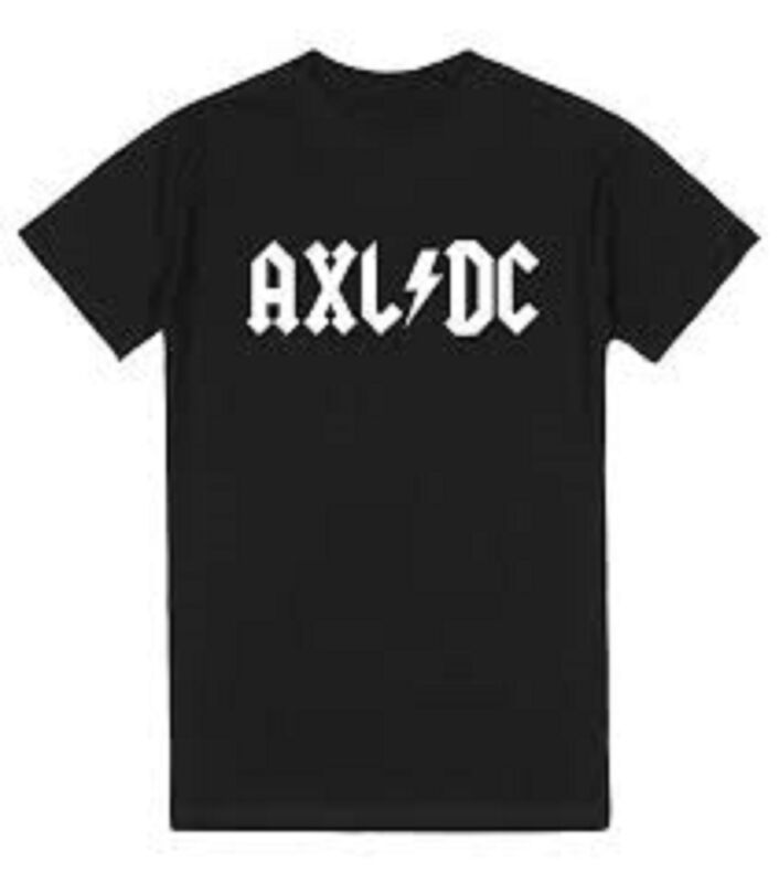 Axl DC   TShirt   ACDC     Axl Rose   Guns N Roses   Rock n Roll   Slash   AXLDC