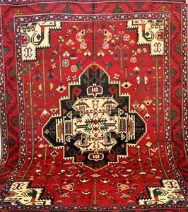 Full Room Size Tribal Hand Woven Persian Afshari Rug 3x2 1m