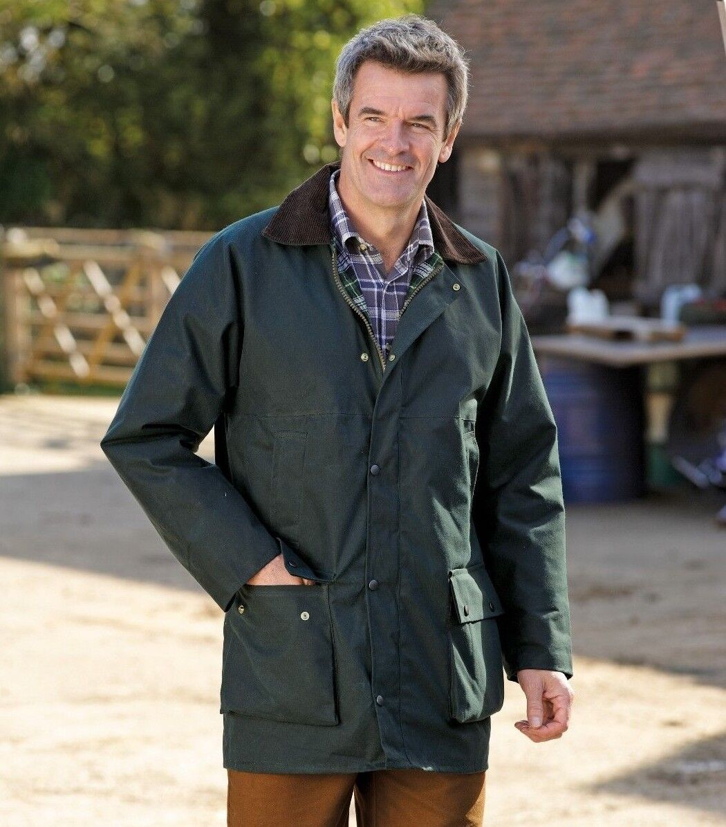 Wax Jacket New Padded Country Walking Made In England Navy Men/'s Ladies Unisex