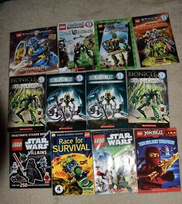 Lot of 12 Lego Books Bionicle, Ninjago, Star Wars etc.