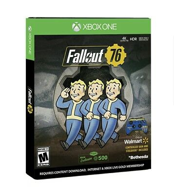 Fallout 76 Steelbook Issue(Xbox One) Exclusive Controller Skin,plus 500 Atoms!
