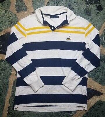 VTG Nautica Sailing Alliance Long Sleeve Polo Shirt Size L