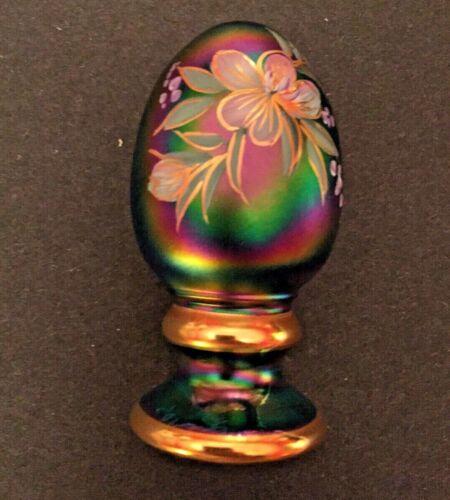 FENTON EGG Signed JK Spindler CARNIVAL GLASS Limited Edition RARE