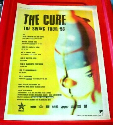 The Cure The Swing UK Tour Vintage ORIG 1996 Press/Magazine ADVERT Poster-Size