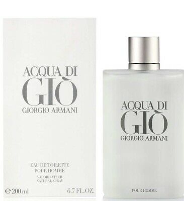 Acqua di gio By Giorgio Armani For Men 6.7 Oz Eau De Toilette Spray New In Box.