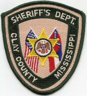 CLAY COUNTY MISSISSIPPI MS SHERIFF POLICE PATCH for sale  Atlanta