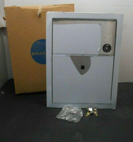 Bradley 4731-150000 Partition-Mounted Sanitary Napkin Disposal Equipment