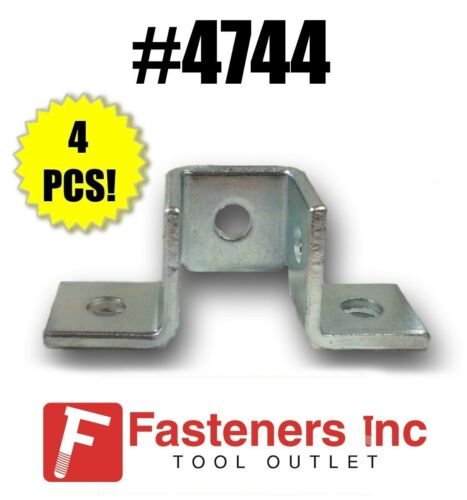 (QTY 4) 5-Hole Double Corner Wing Fitting Unistrut B-Line Channel #4744 P2345