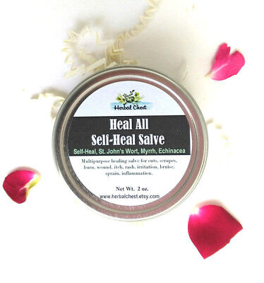 Heal Salve (Heal All Herbal Healing Salve for cuts wound itch relief dry burns bug bite )