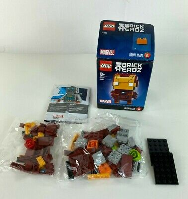 LEGO Marvel Iron Man BrickHeadz 41590 Open Box