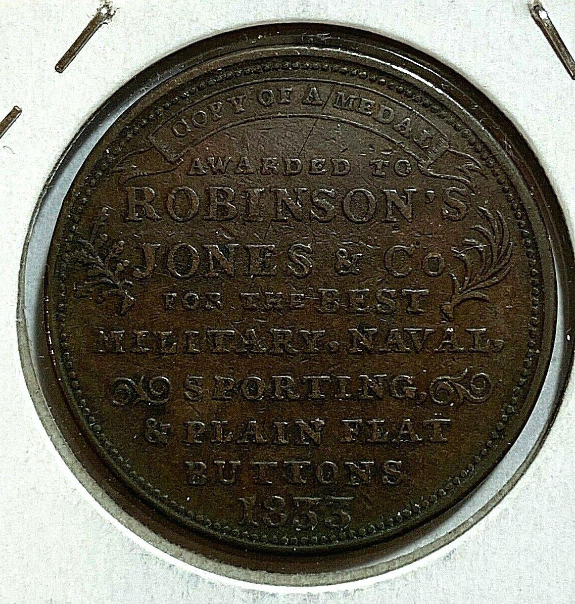 Hard Times Token Attleboro, MA 1833 Robinson Jones Co HT-153 XF - $35.00