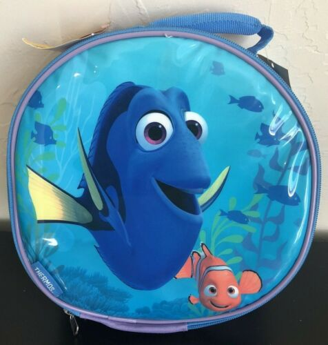 """NWT FINDING DORY 10"""" ROUND LUNCH TOTE KIT DISNEY PIXAR THERMOS NEW (A)"""