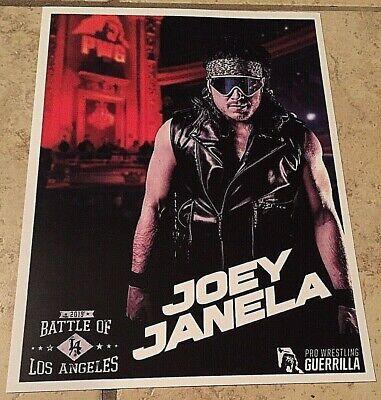 """Usado, PWG Joey Janela 2019 Battle Of Los Angeles 8.5"""" X 11"""" CardStock Photograph, AEW comprar usado  Enviando para Brazil"""