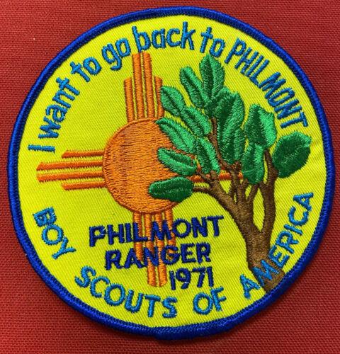"""1971 Philmont Scout Ranch Ranger Jacket Patch Mint Unsewn 5""""  [GT1486]"""