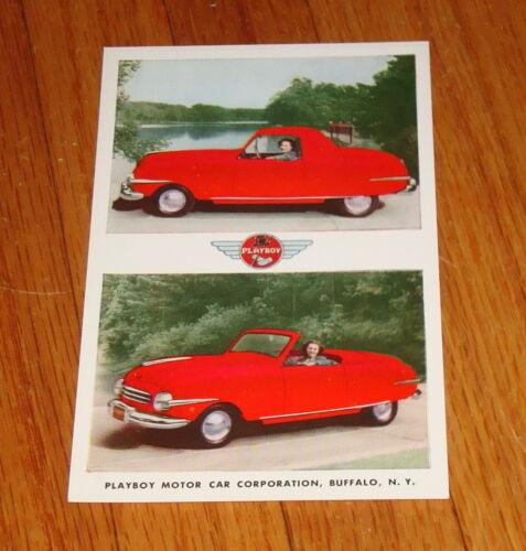 Original 1948 Playboy Car Postcard
