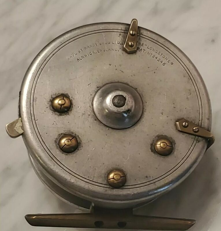 HARDY BROS LONGSTONE FLY REEL,Vintage and mint!  With Line check guide & lever.