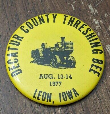 Vintage Pocket Mirror DECATUR COUNTY THRESHING BEE 1977 LEON IOWA