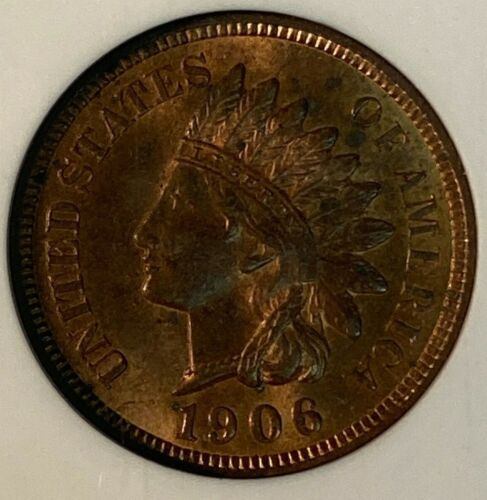 1906 NGC MS63 RB Indian Head US Cent 1C