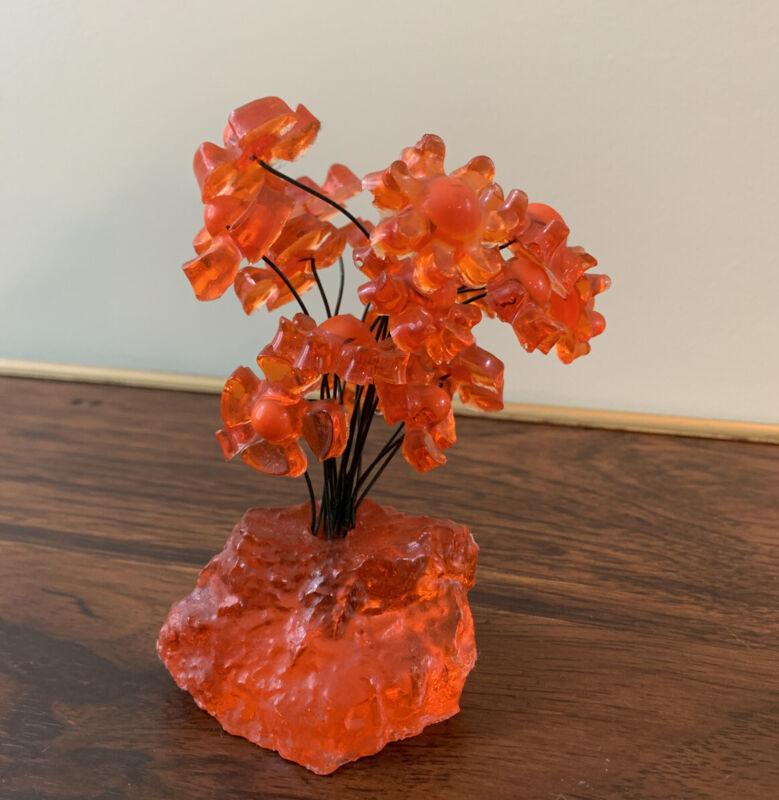 RARE Colorflo FLOWER SCULPTURE vtg retro mcm space age resin acrylic lucite