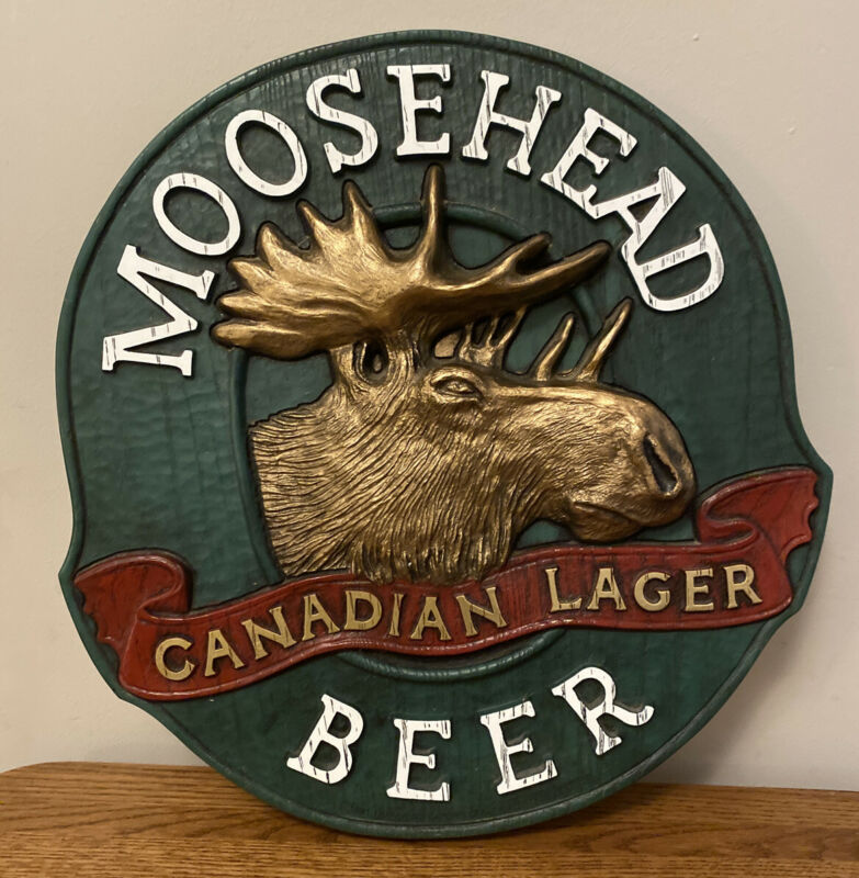 "VINTAGE 14"" MOOSEHEAD CANADIAN LAGER 3D BEER 🍺 Sign !"