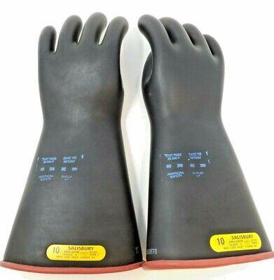 Salisbury Size 10 D120 Class 2 Type I 17000v Lineman Electrical Gloves