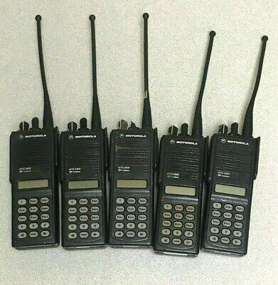 Lot Of 5 Motorola Mts 2000 Flashport Radio W Batteries Clips Antennas