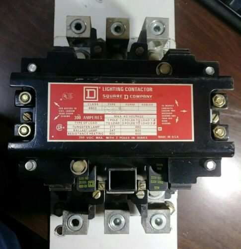 SQUARE D CLASS 8903 TYPE SXO2 LIGHTING CONTACTOR 300 AMP 3 POLE PRE-OWNED GOOD