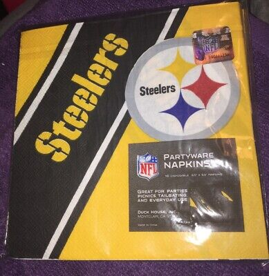 NFL Football Pittsburgh Steelers Dinner  Napkins Party-Ware Supplies New