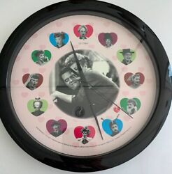 """CBS Worldwide I Love Lucy Wall Clock In Working Condition 11 1/2"""" Diameter"""