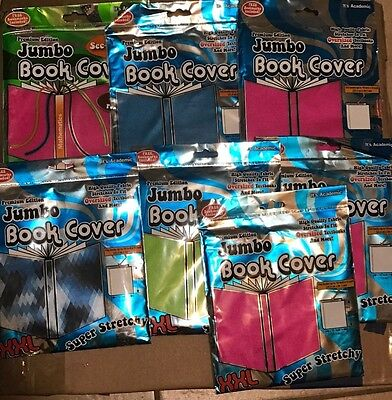 NEW Book Covers Jumbo XXL Stretch Its Academic Assorted 7 pack