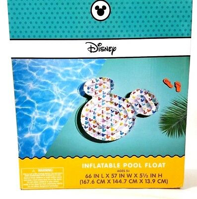 Mickey Mouse Inflatable Pool (Disney Mickey Mouse Icon Multicolor Inflatable Pool Float 60 x 57)