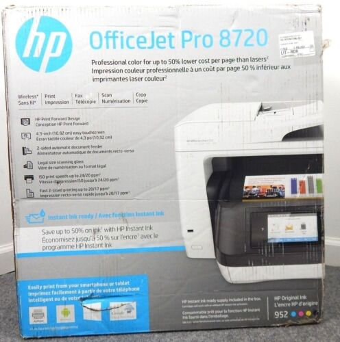 HP Officejet Pro 8720 Wireless All-In-One Instant Ink Ready Printer M9L75A#B1H