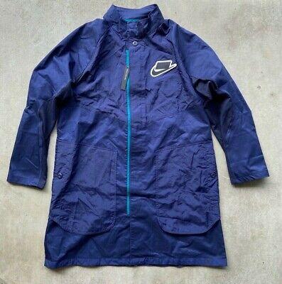 NIKE NSW TECH TRENCH COAT jacket navy blue supreme fleece supreme nikelab mens L
