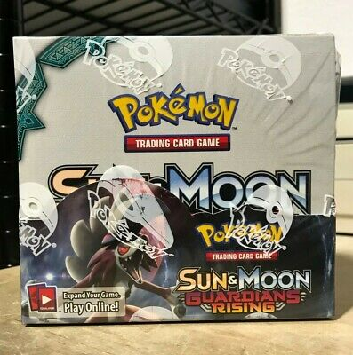 POKEMON TCG GUARDIANS RISING SUN & MOON BOOSTER BOX 36 PACKS SEALED
