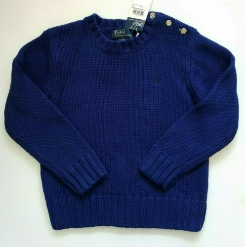 Ralph Lauren Boys Sweater Pullover Royal Blue Size 5 NWT