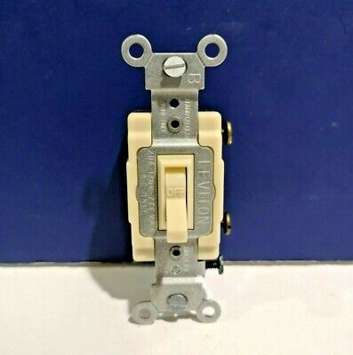 5-PK Leviton IVORY Single Pole Quiet INDUSTRIAL Toggle Light Switch 54521-I -
