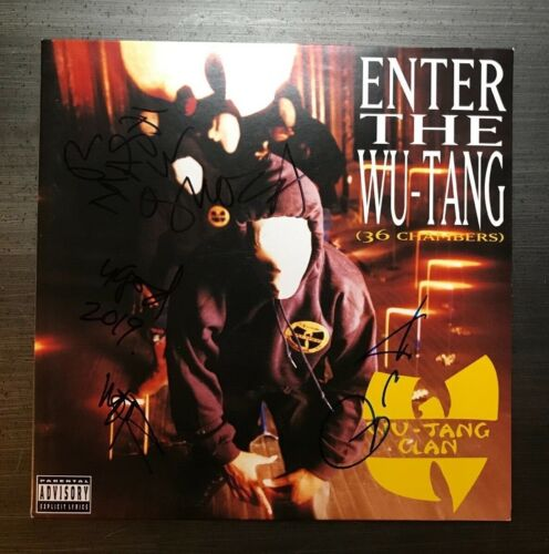 * WU TANG CLAN * signed vinyl album *ENTER THE WU TANG* 36 CHAMBERS * PROOF * 1