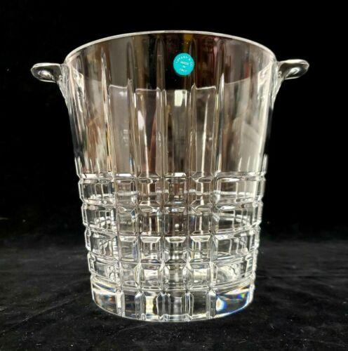 "NEVER USED! Tiffany & Co Tartan Plaid Crystal Glass 7.5"" H Champagne Ice Bucket"