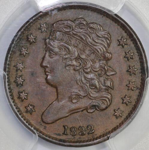 1832 1/2c Classic Head Half Cent PCGS AU 55