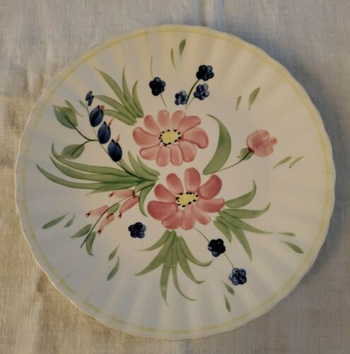 Blue Ridge Valley Blossom Clinchfield Hand Painted Southern Pottery Dinner Plate