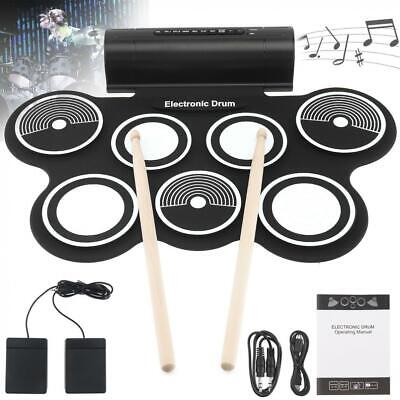 Electronic Drum Set 7 Pads with Speaker Stereo Drum Stick Foot Pedals Best (Best Electronic Drum Pad)