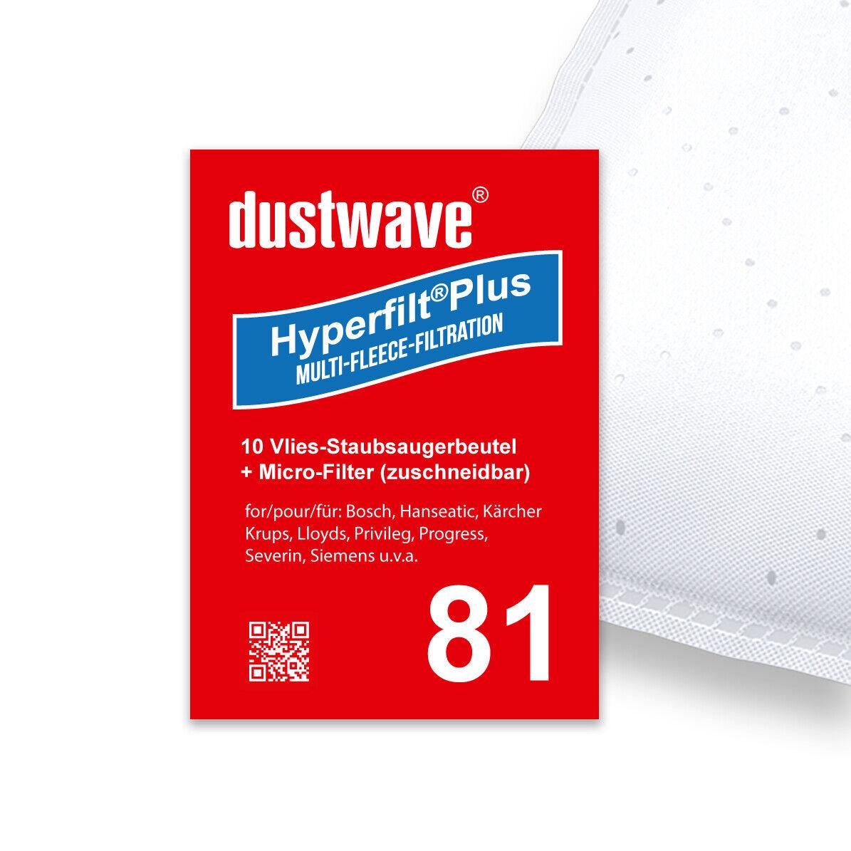 10 Staubbeutel HEPA-Filter Motorschutz geeignet für Siemens VSQ8532S