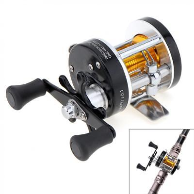 Full Metal Drum Fishing Reel 3.8:1 Right Hand Trolling Wheel Casting Sea Fishing (Full Wheel Drum)