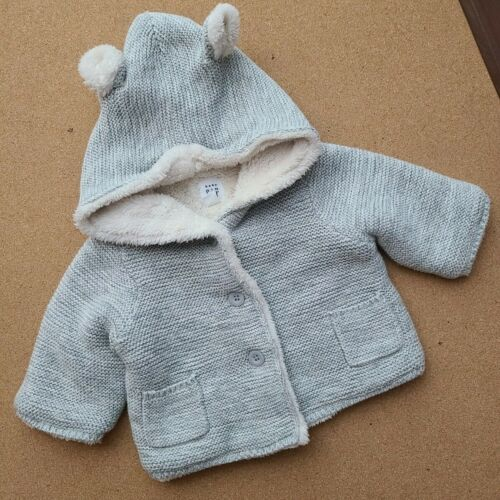 Gap Baby Sherpa Lined Hoodie Cardigan Size 0-3 Months