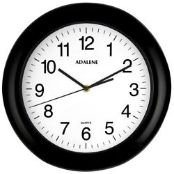 Adalene Wall Clocks Battery Operated Non Ticking 13 Inch Large Wall Clock